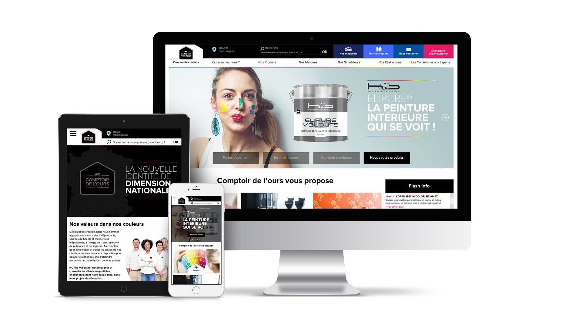 Comptoir de l'Ours site corporate